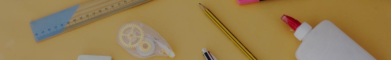 Craft supplies on a desk